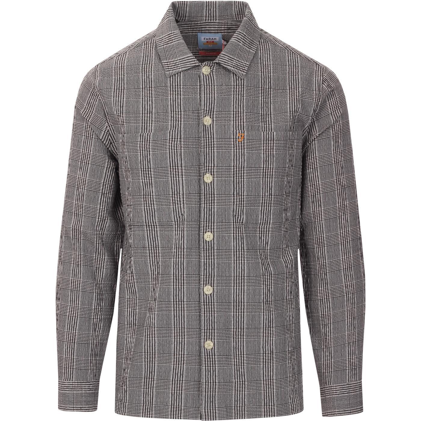 Mclennan FARAH 100 Mod POW Check Seersucker Shirt