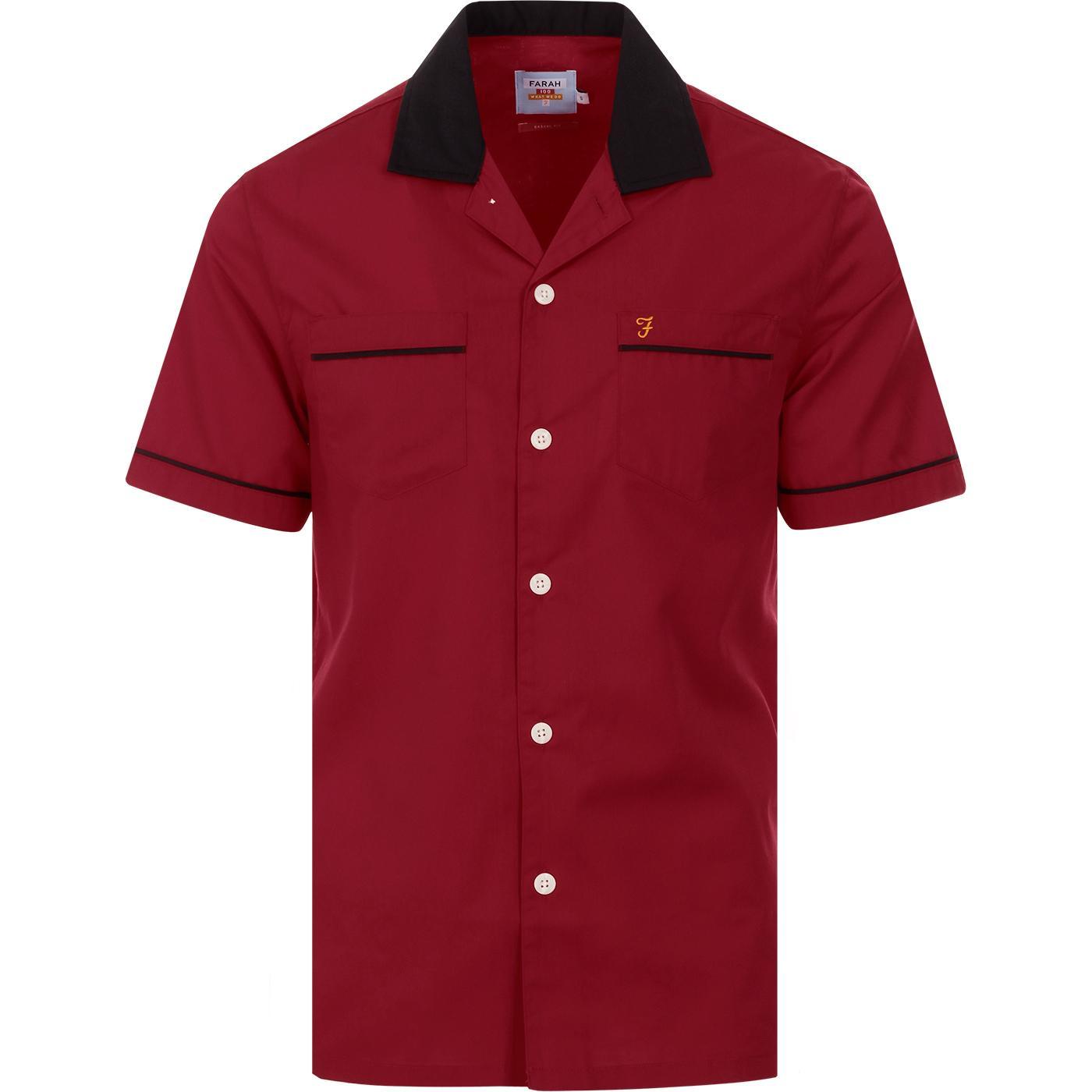 Menard FARAH 100 Retro Revere Collar Bowling Shirt