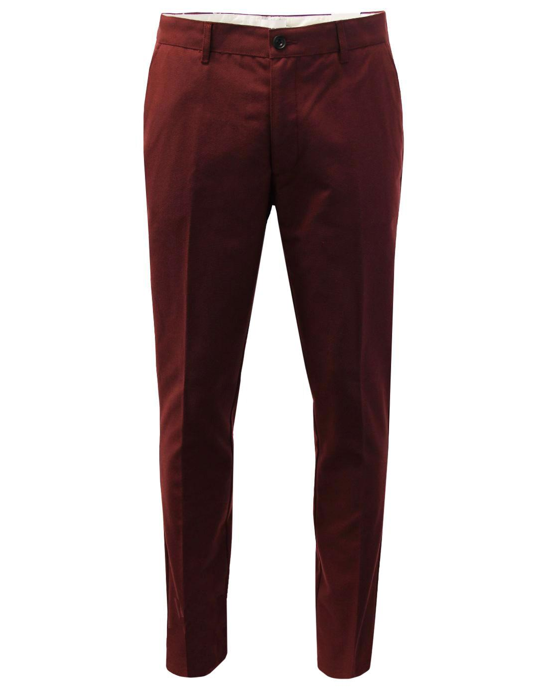 Elm FARAH Men's 60s Mod Slim Hopsack Trousers (FR)