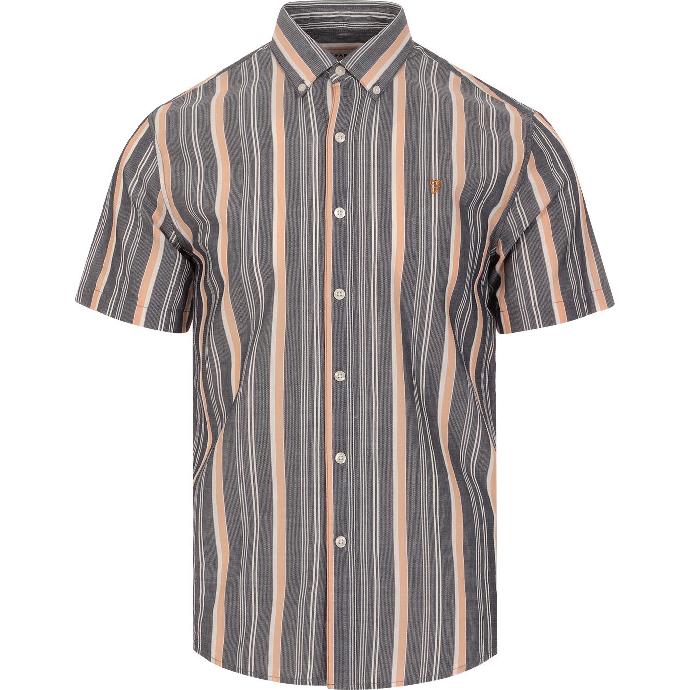 Robertson FARAH Retro Mod Textured Stripe SS Shirt