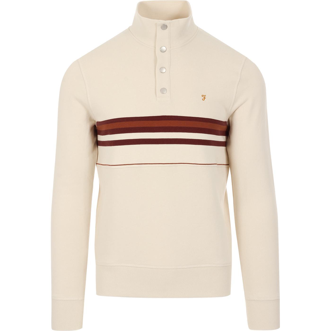 Segundo FARAH 100 Retro Stripe Sweatshirt (Cream)
