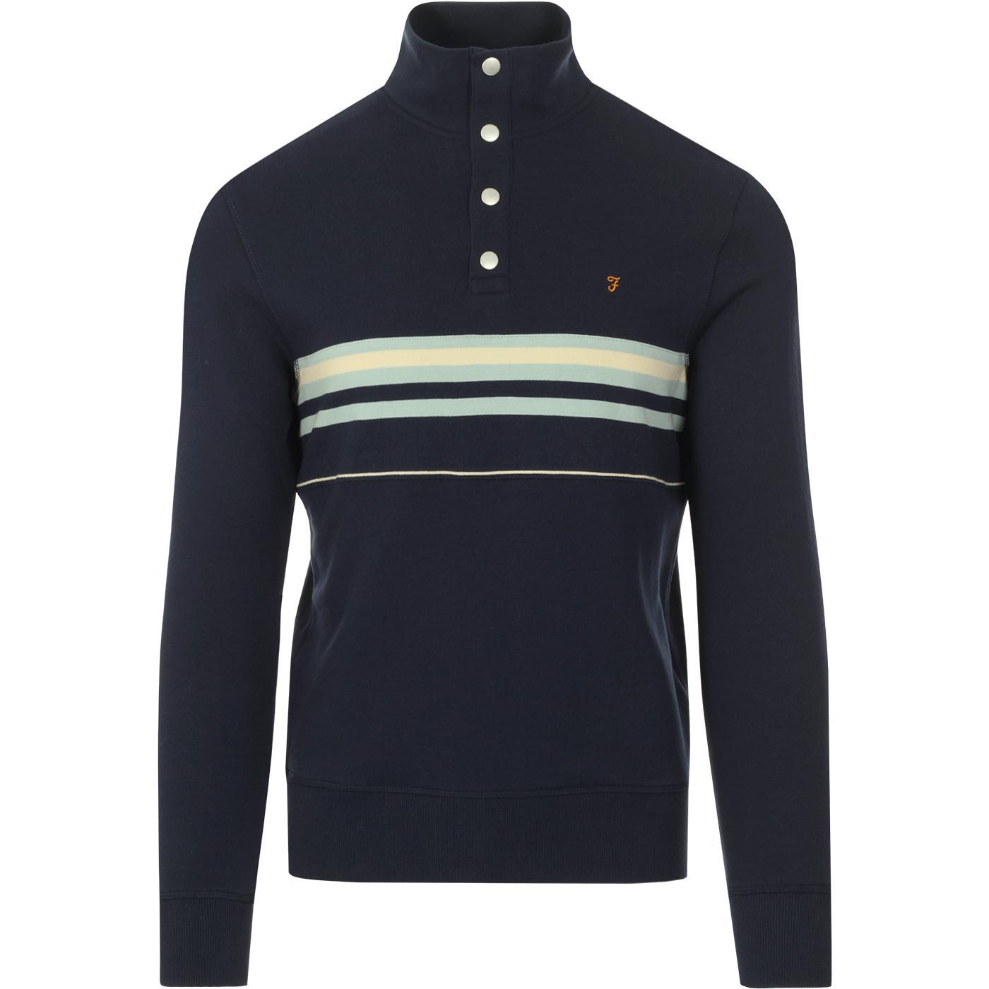 Segundo FARAH 100 Retro 70s Stripe Sweatshirt YALE