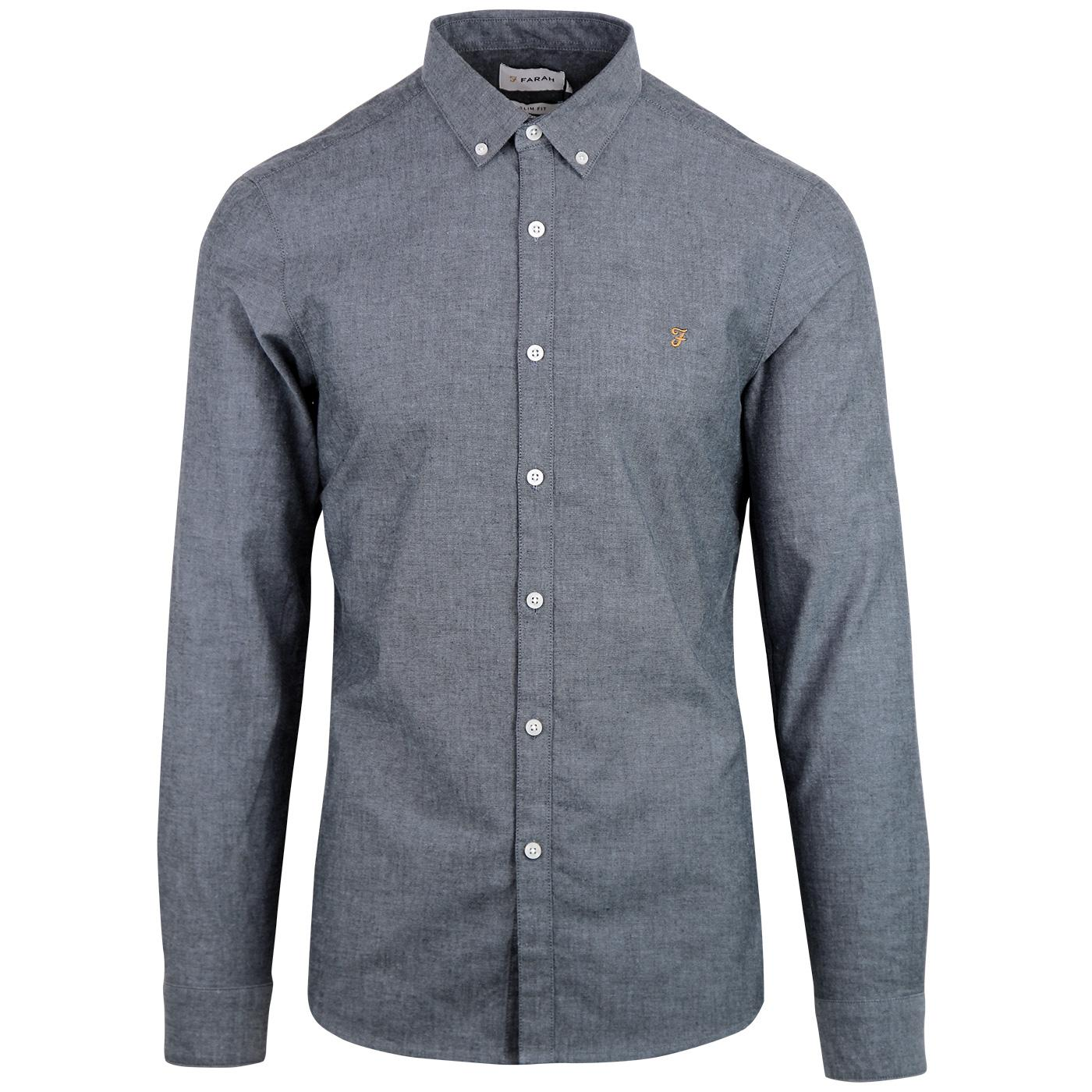 Steen FARAH Chambray Button Down Oxford Shirt BB
