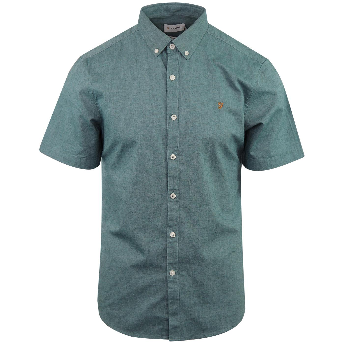 Steen FARAH 60s Mod Short Sleeve Oxford Shirt (MG)