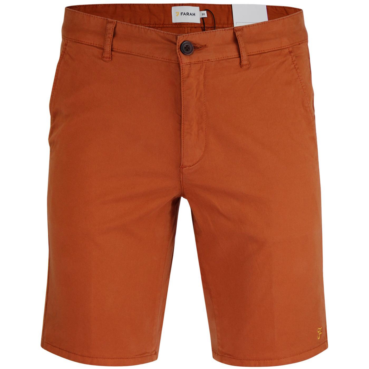 Hawk FARAH Retro Cotton Twill Chino Shorts (Gold)