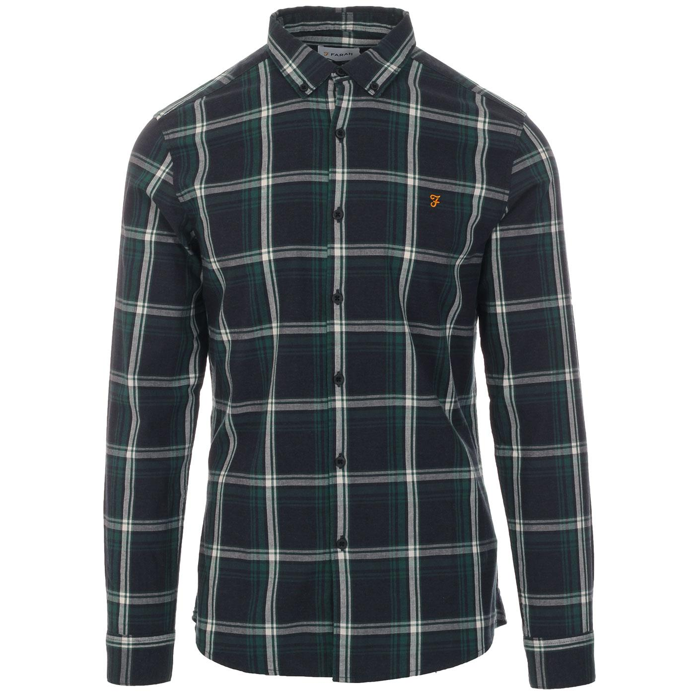 Steen FARAH Retro Mod Button Down Check Shirt (TB)