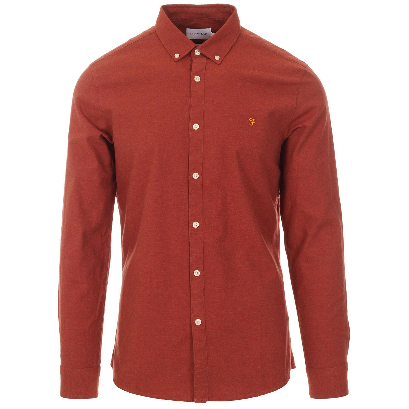 Steen FARAH 60s Mod Button Down Oxford Shirt (FR)