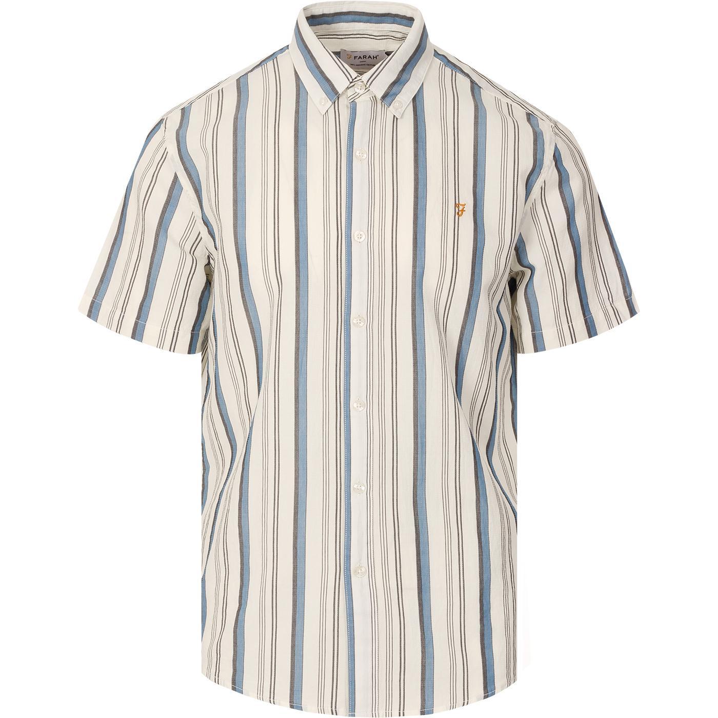 Robertson FARAH Mod Stripe Button Down Shirt ECRU