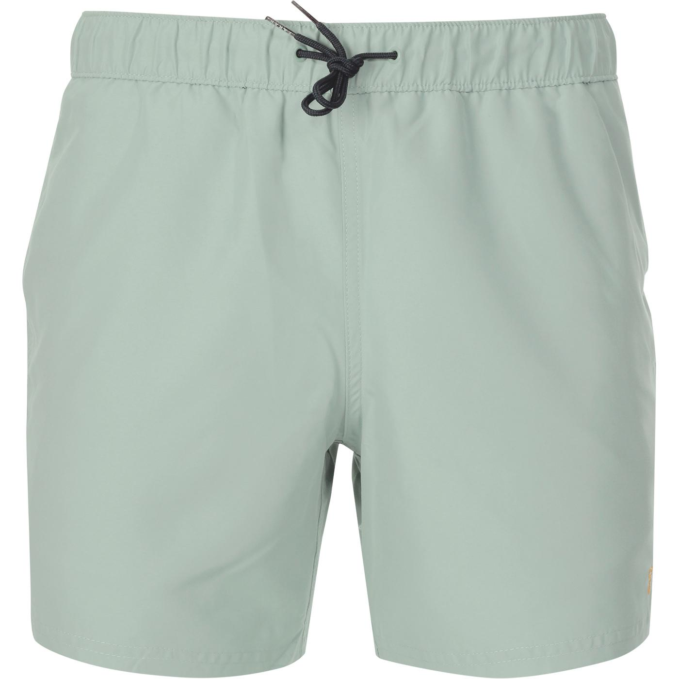 Colbert FARAH Men's Retro Swim Shorts (Green Mist)