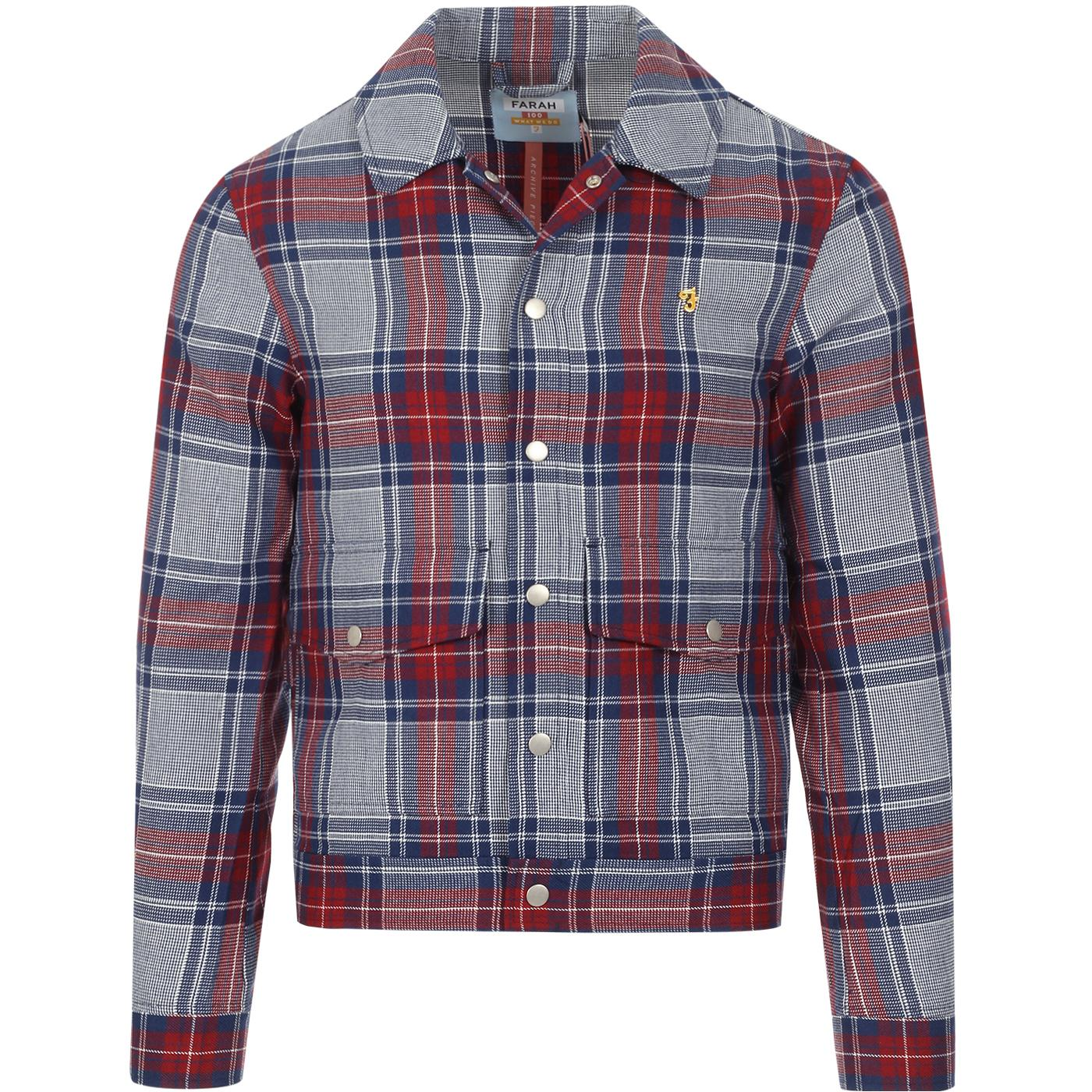 Wilcox FARAH 100 Mod Ivy Look Check Trucker Jacket