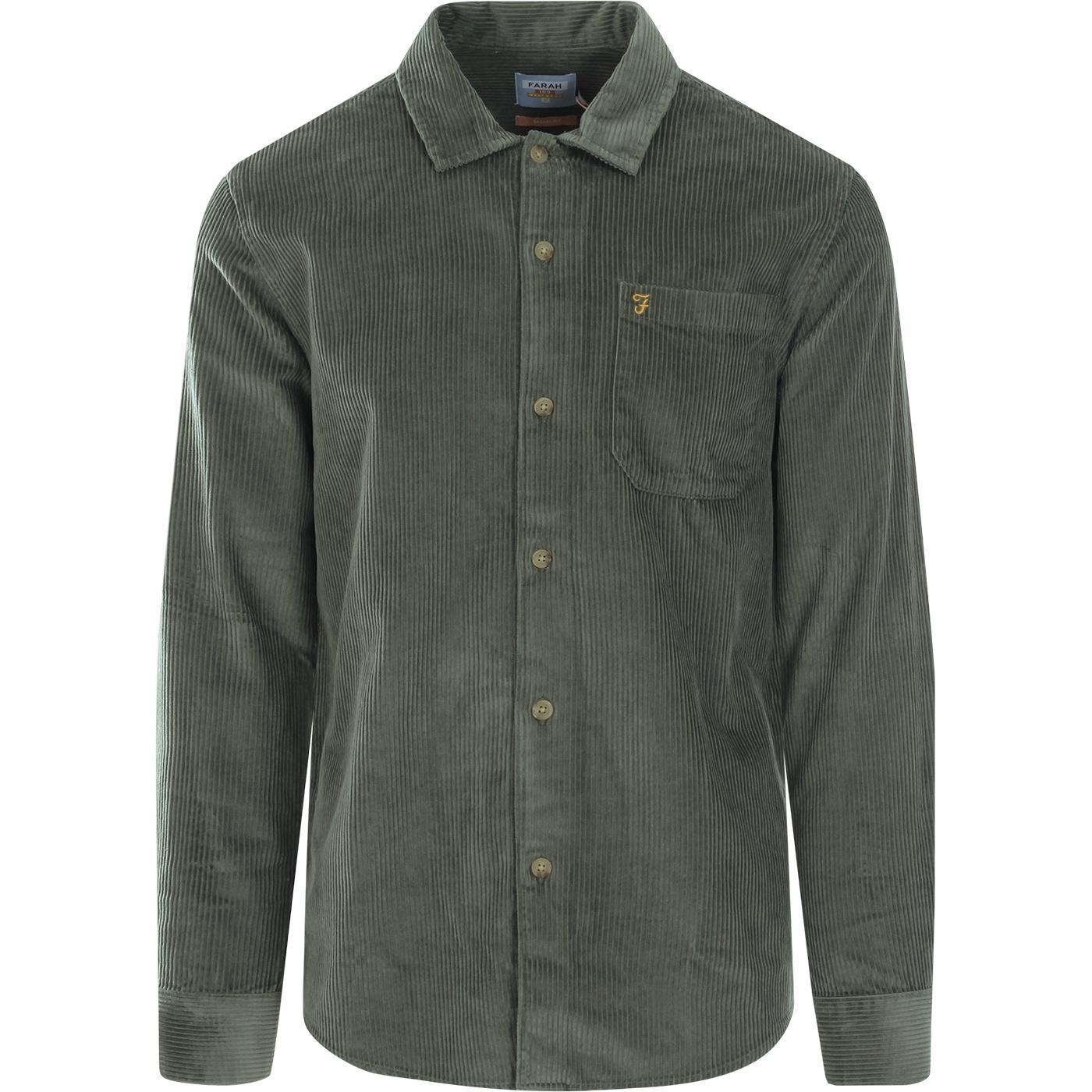 Wyman FARAH 100 Retro Jumbo Cord Overshirt (FG)