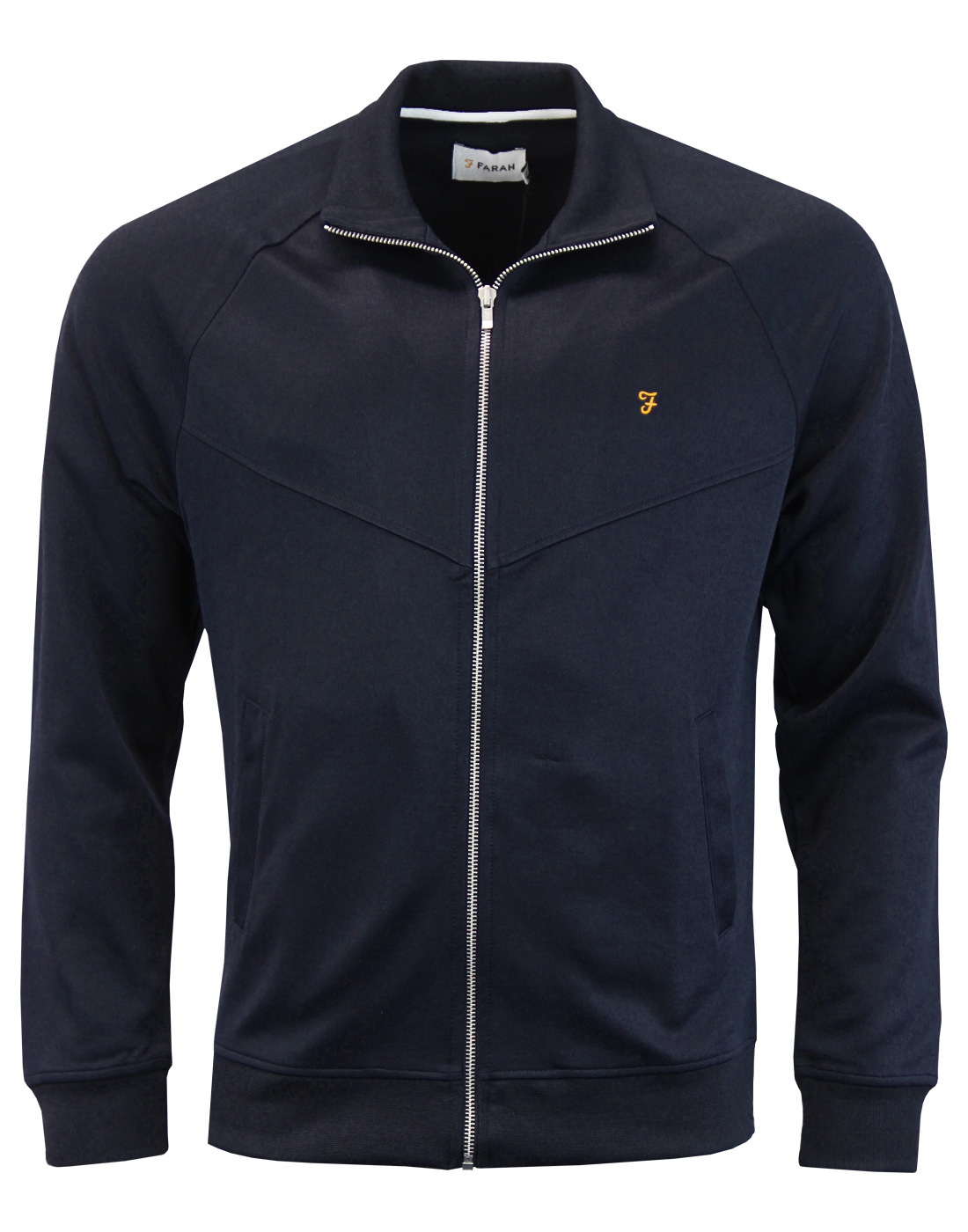 Lancaster FARAH Retro Chevron Zip Thru Track Top