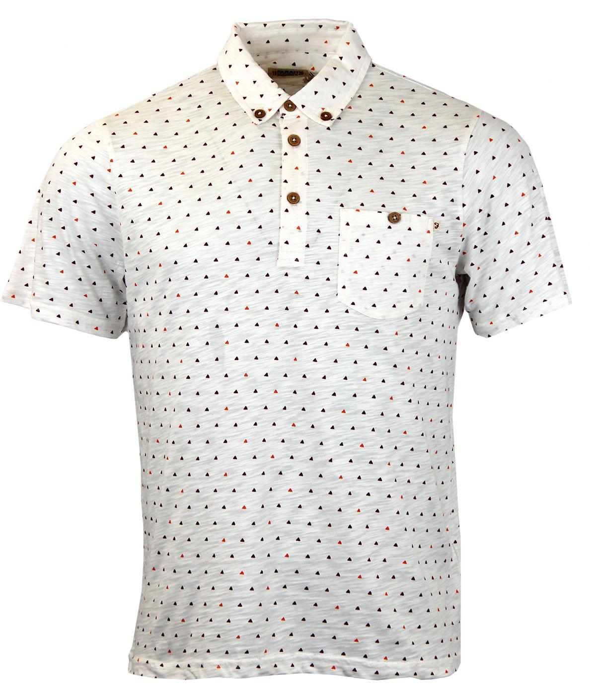 Haverford FARAH 1920 Retro Op Art Triangle Polo