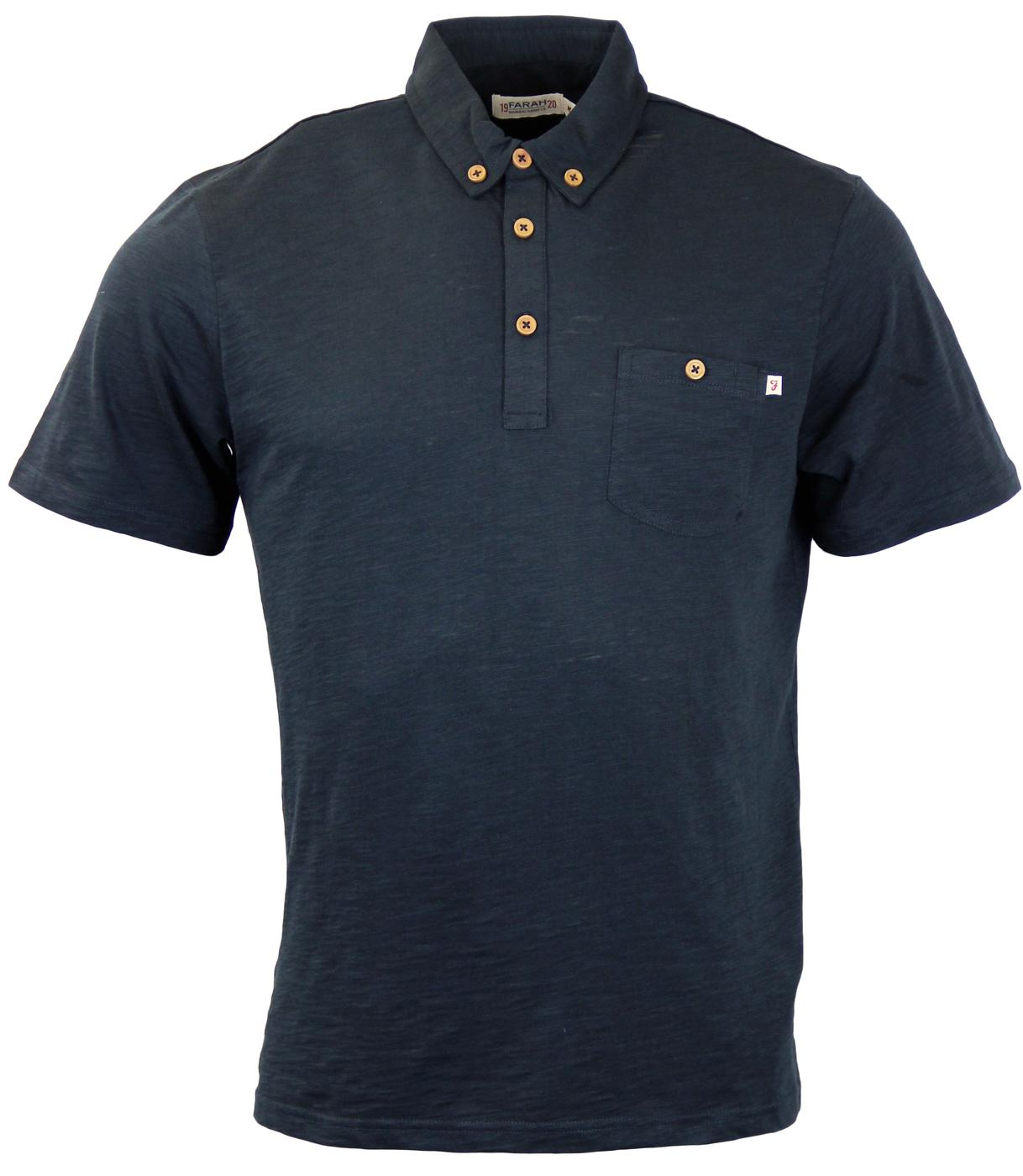 Stapelford FARAH 1920 Mod S/S Textured Polo Top N