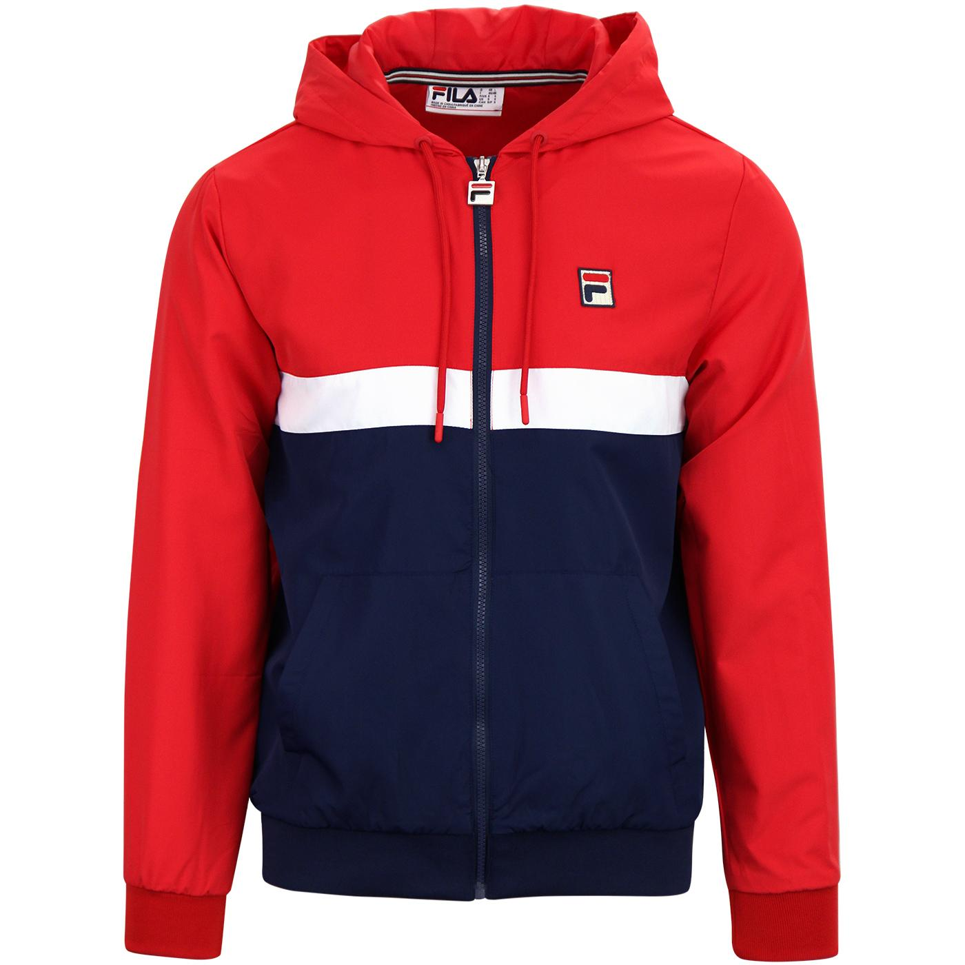 Ambrose FILA VINTAGE Retro 70s Colour Block Jacket