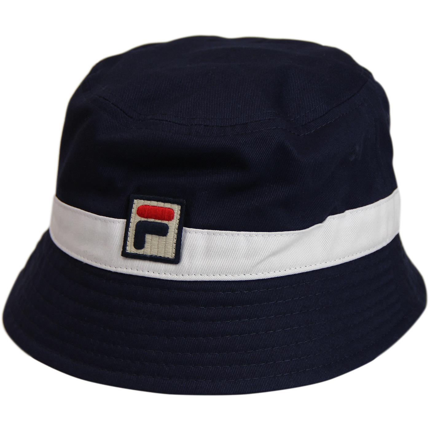 Basil FILA VINTAGE Retro 1990s Bucket Hat (P/W)