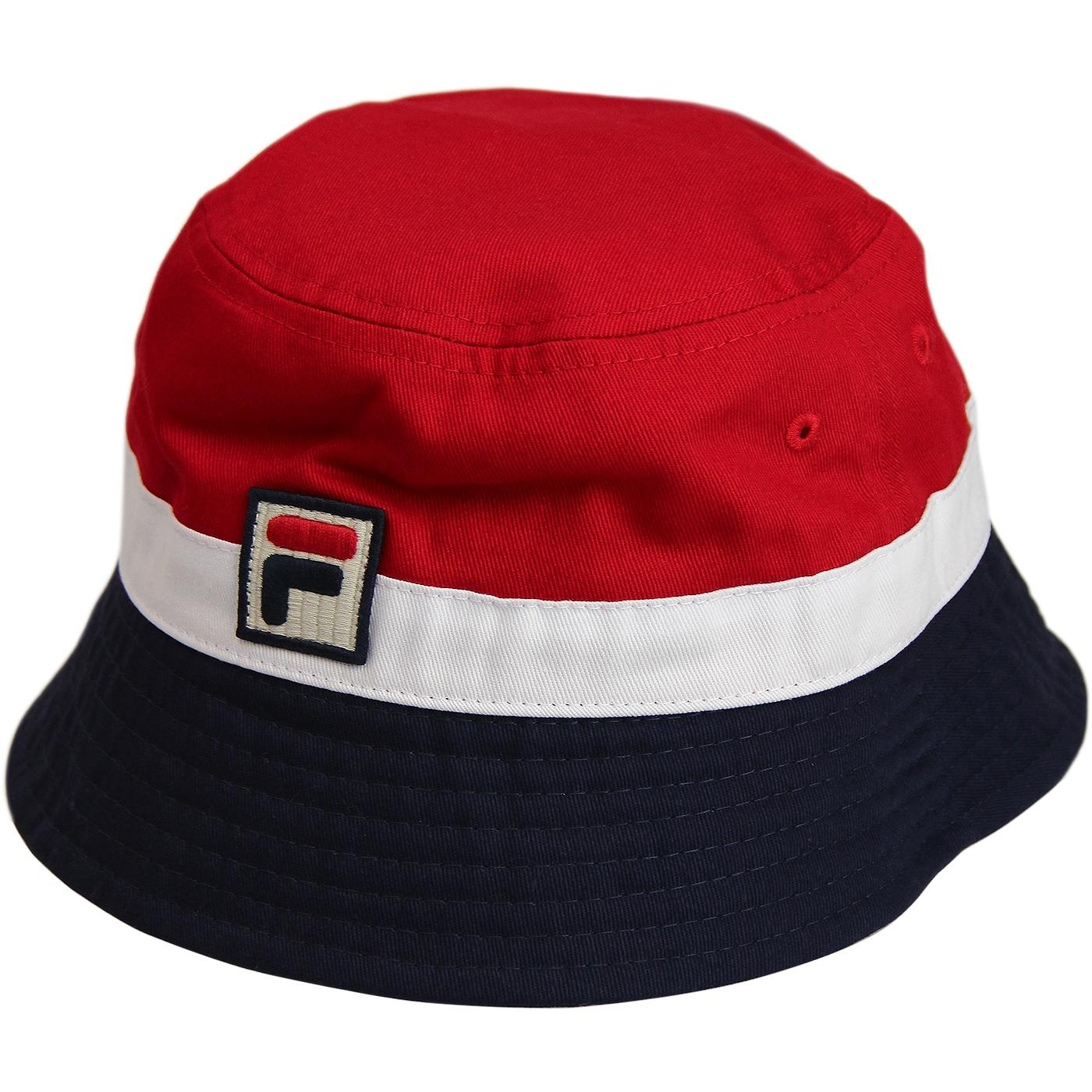 Basil FILA VINTAGE Retro 1990s Bucket Hat (CR/P/W)