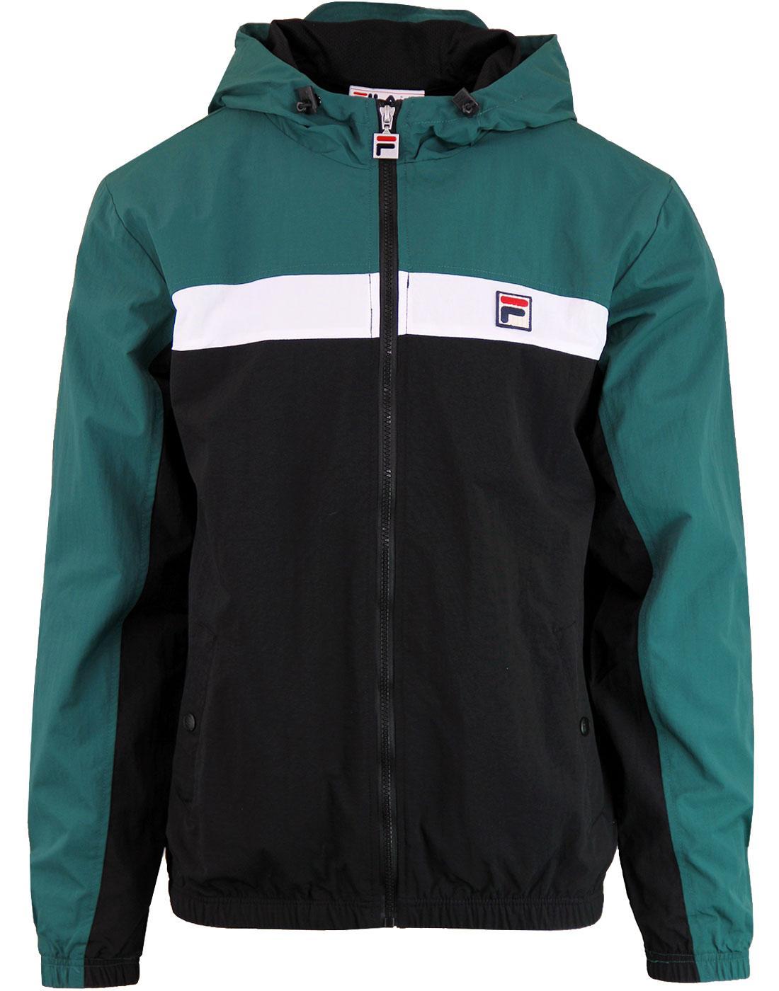FILA VINTAGE Clipper Retro Stripe Hooded Jacket B