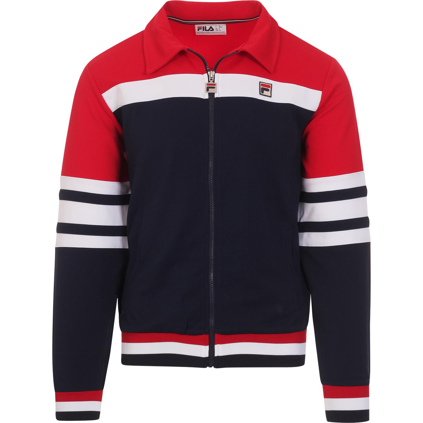 Courto 2 FILA VINTAGE Retro Collared Track Top CR