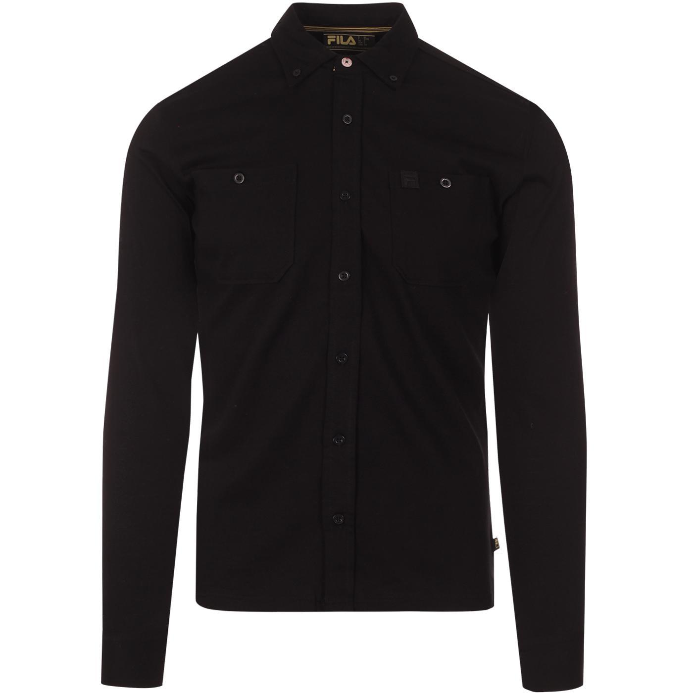 Dusio FILA VINTAGE Button Down Mod Jersey Shirt