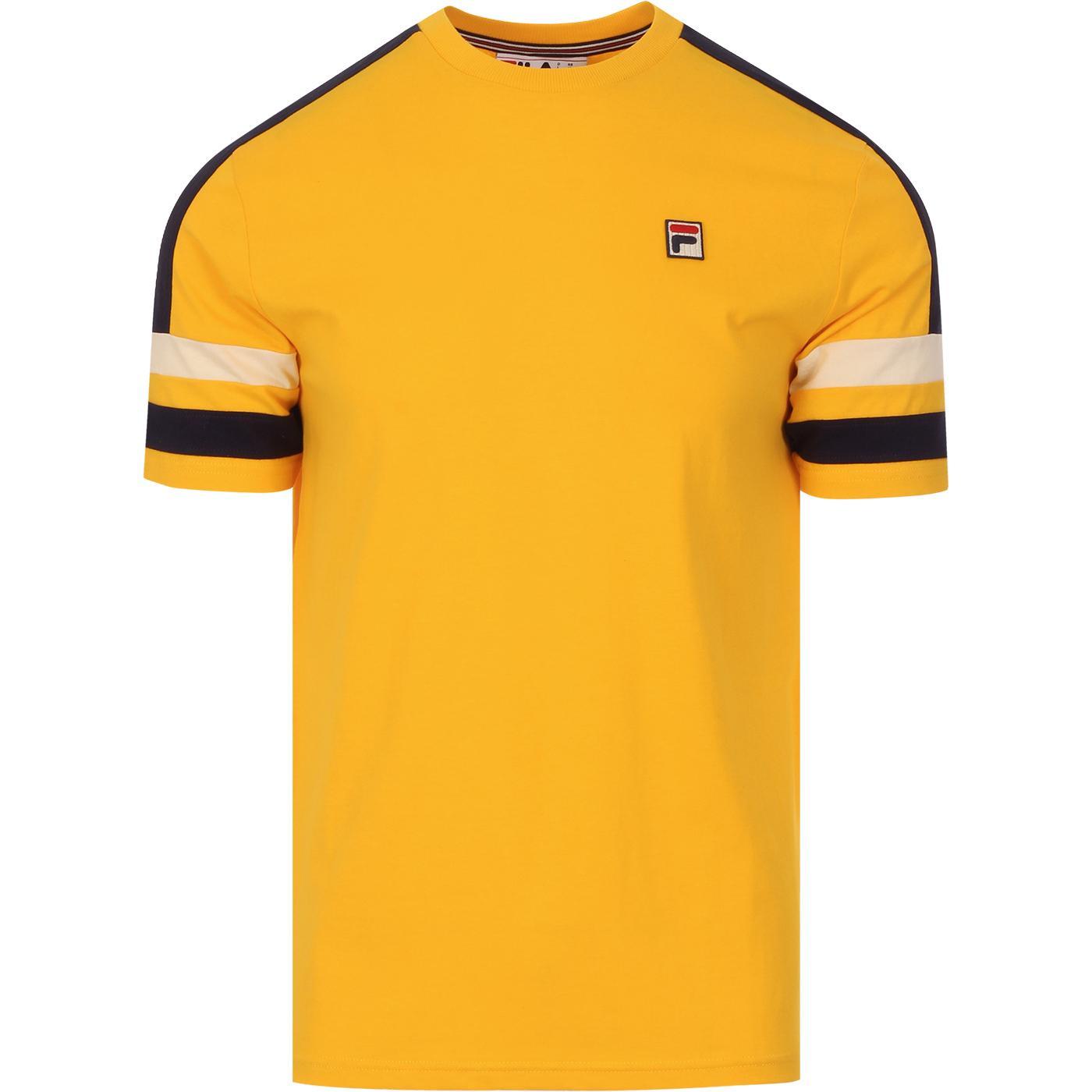 Juan FILA VINTAGE Retro 70s Sports T-Shirt YELLOW