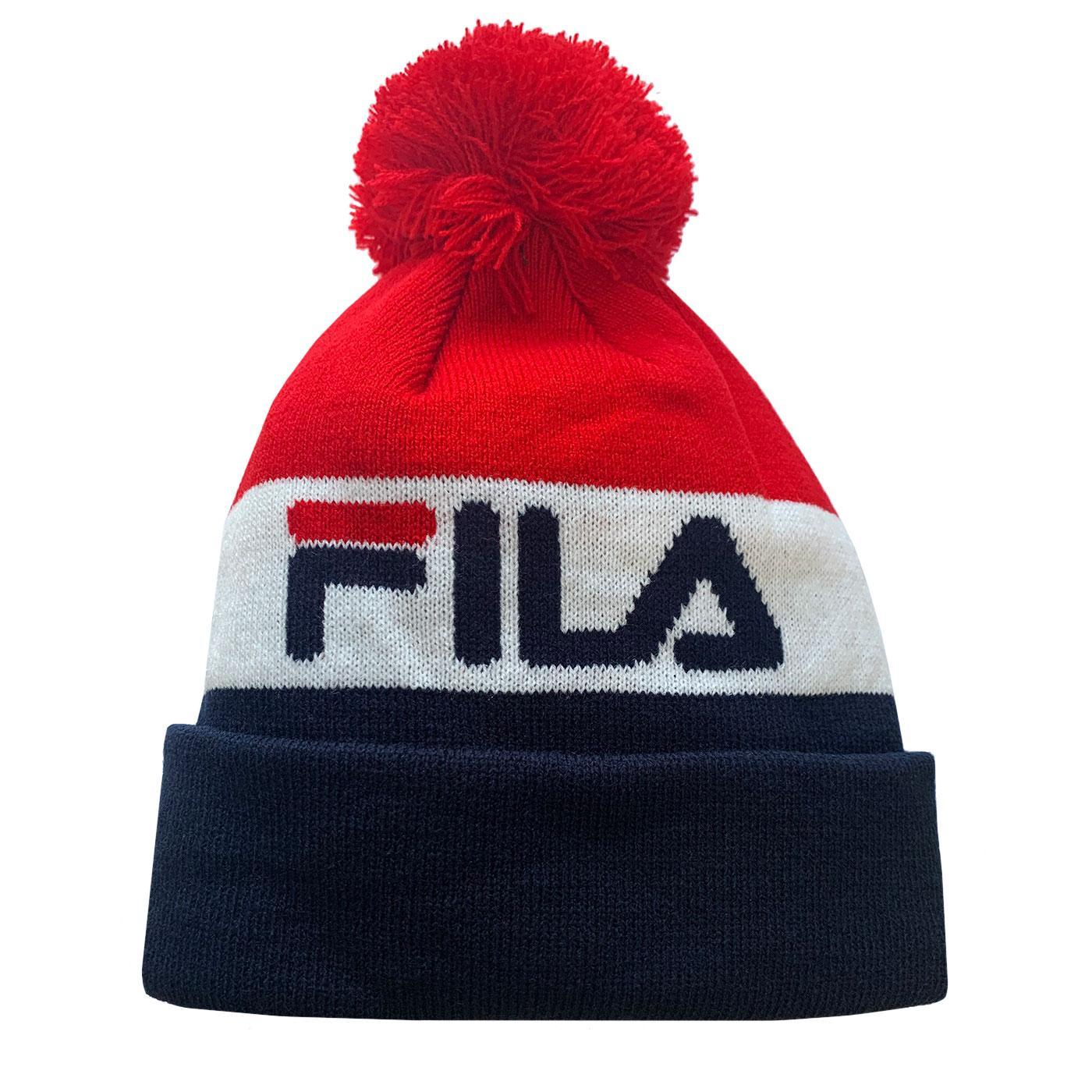 Kato FILA VINTAGE Retro Colour Block Bobble Hat