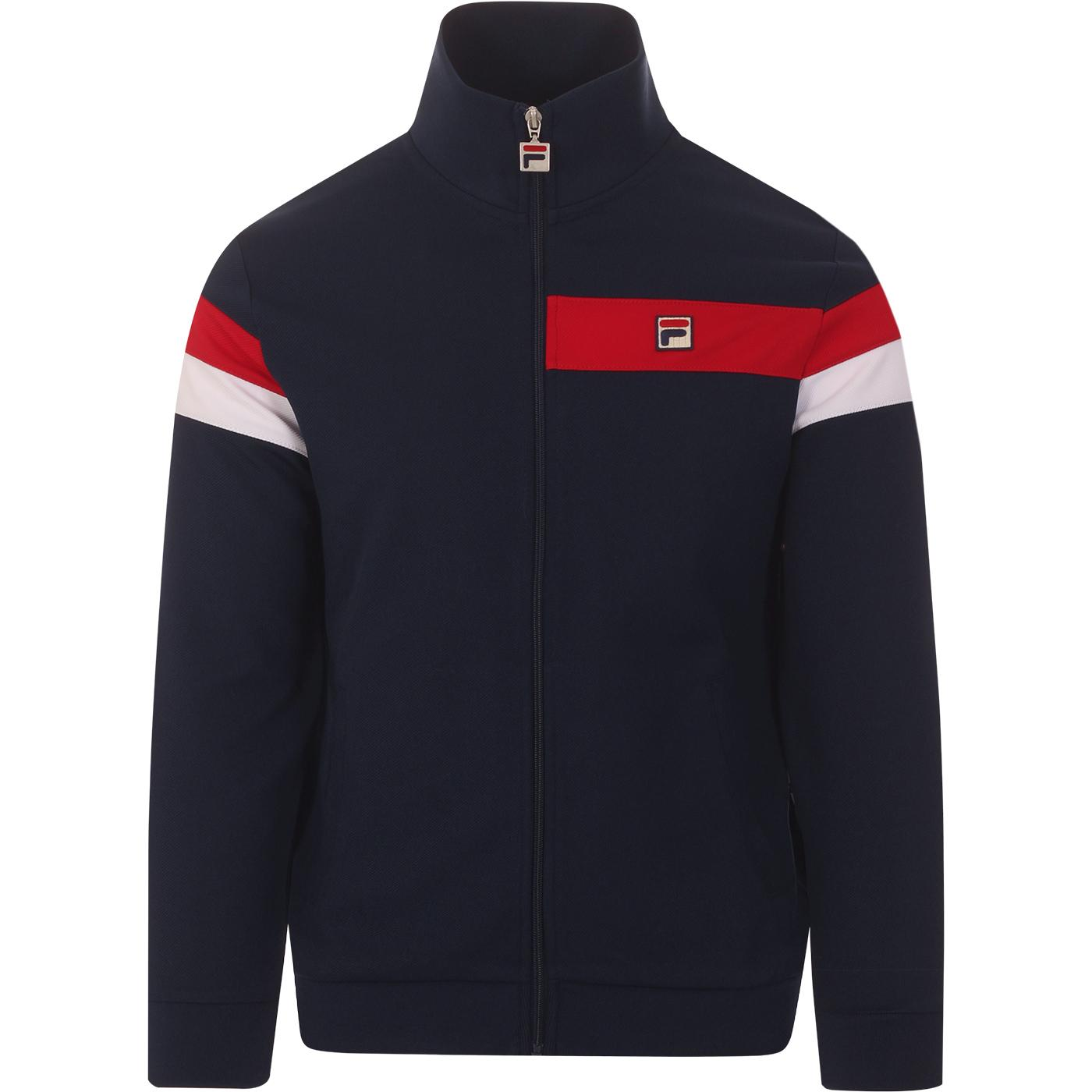 Malcolm FILA VINTAGE 80s Chest Stripe Track Jacket