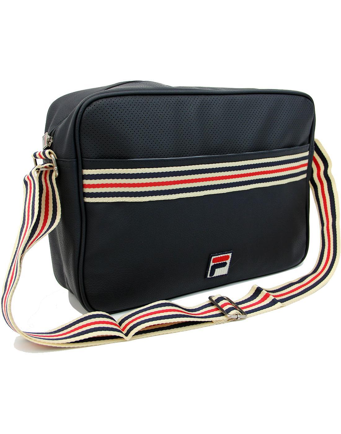 2c2e6b2ed2 Mercia FILA VINTAGE Retro Seventies Shoulder Bag in Peacoat