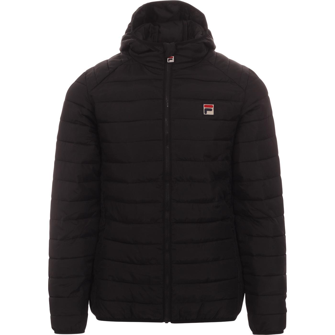 Pavo FILA VINTAGE Retro Quilted Ski Jacket (Black)