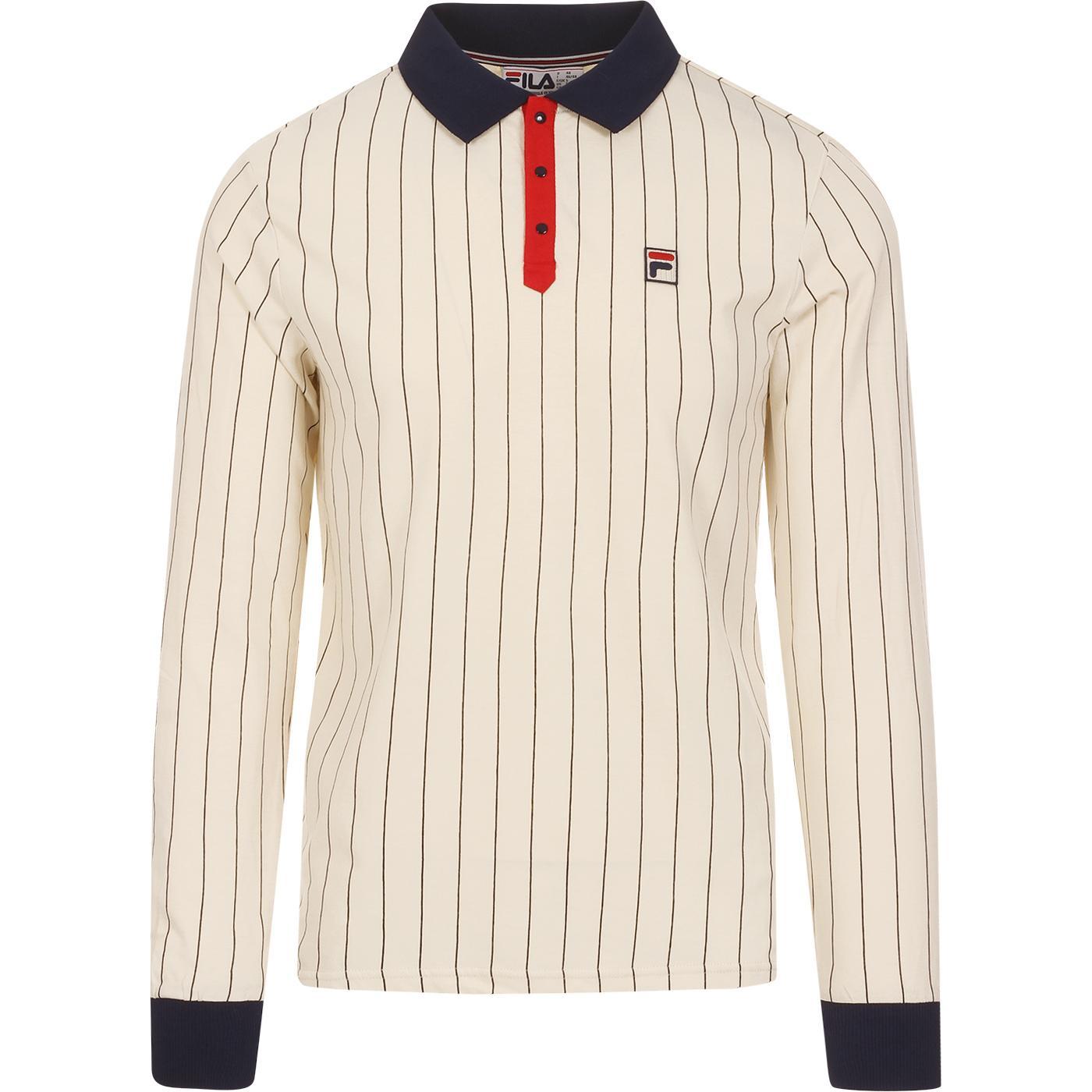 BB2 FILA VINTAGE Retro Long Sleeve Tennis Polo T