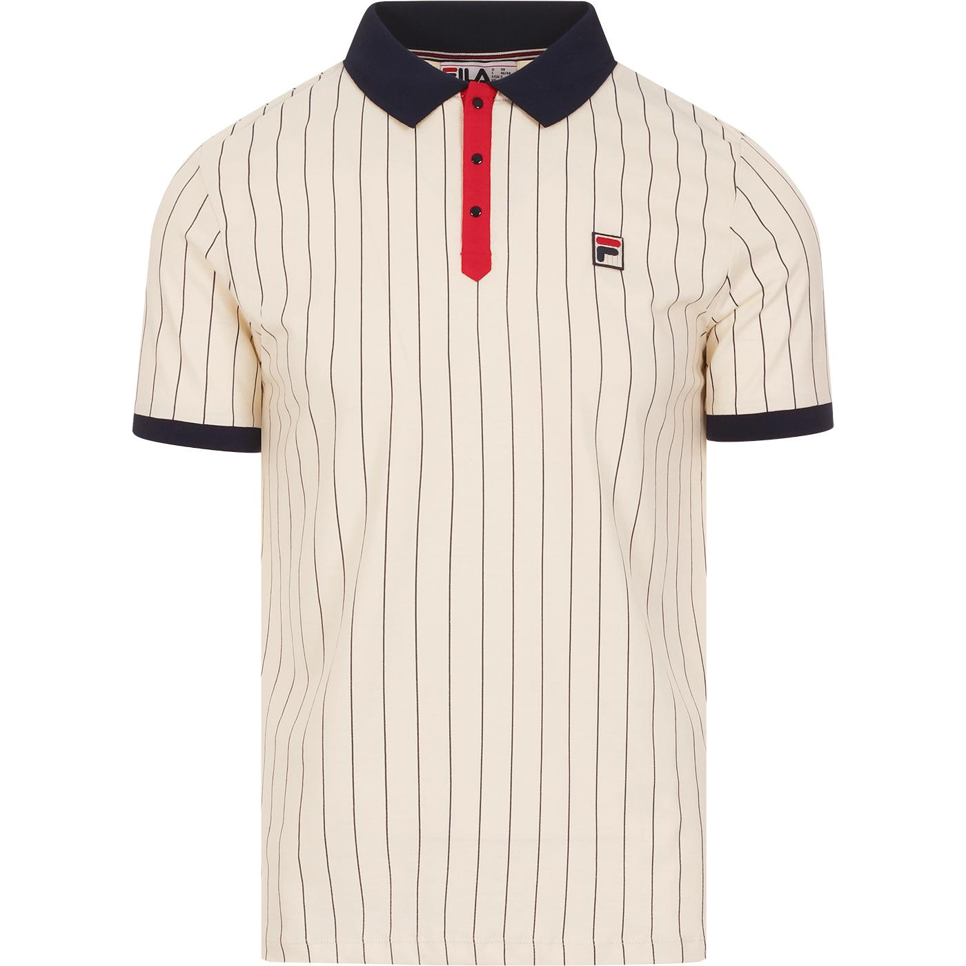 BB1 FILA VINTAGE Retro Borg Tennis Polo Turtledove