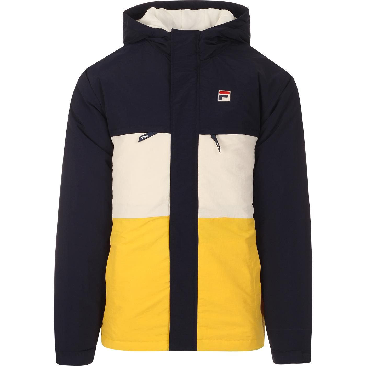 Raul FILA VINTAGE Retro 90s Colour Block Jacket
