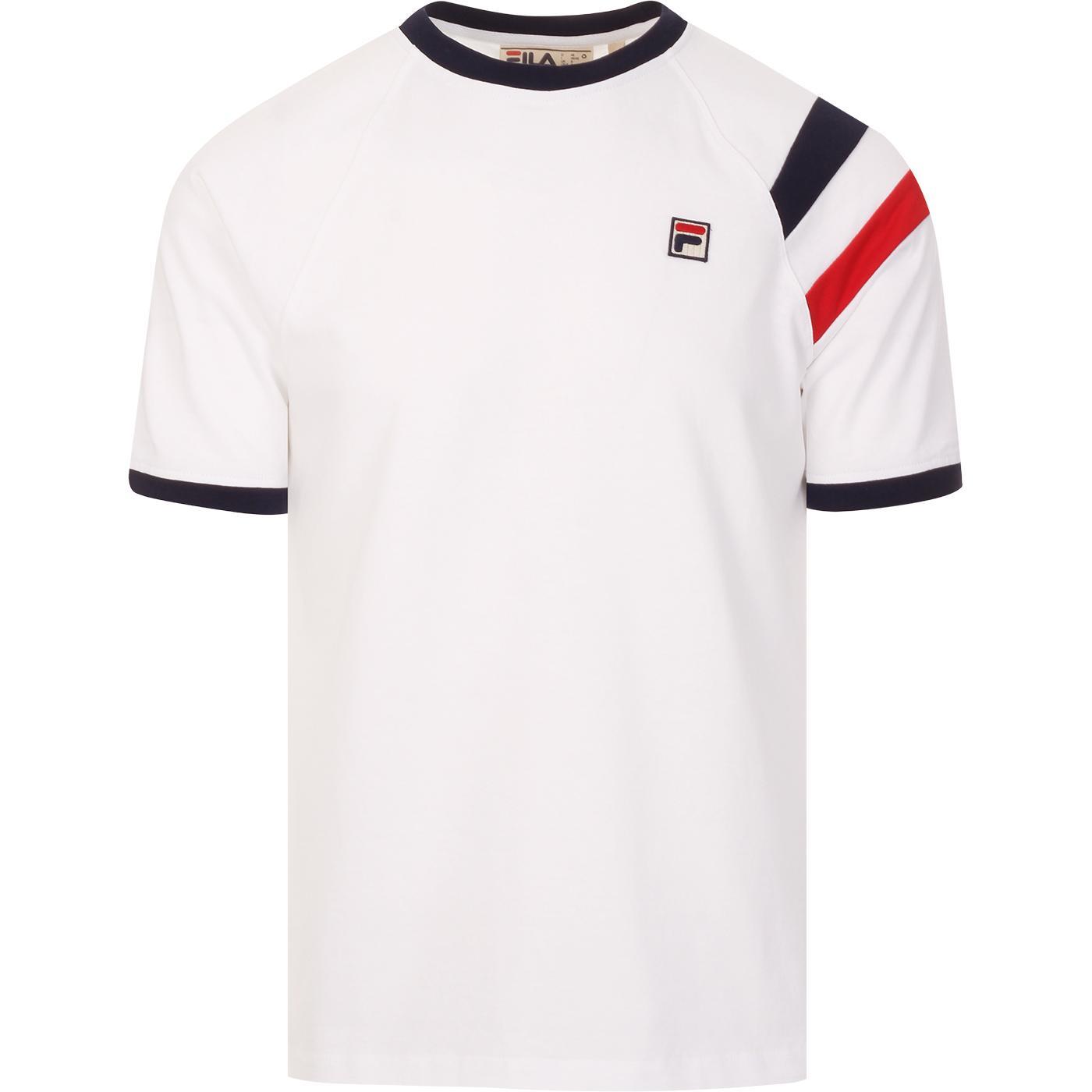 Roger FILA VINTAGE 80s Stripe Raglan Sleeve Tee W