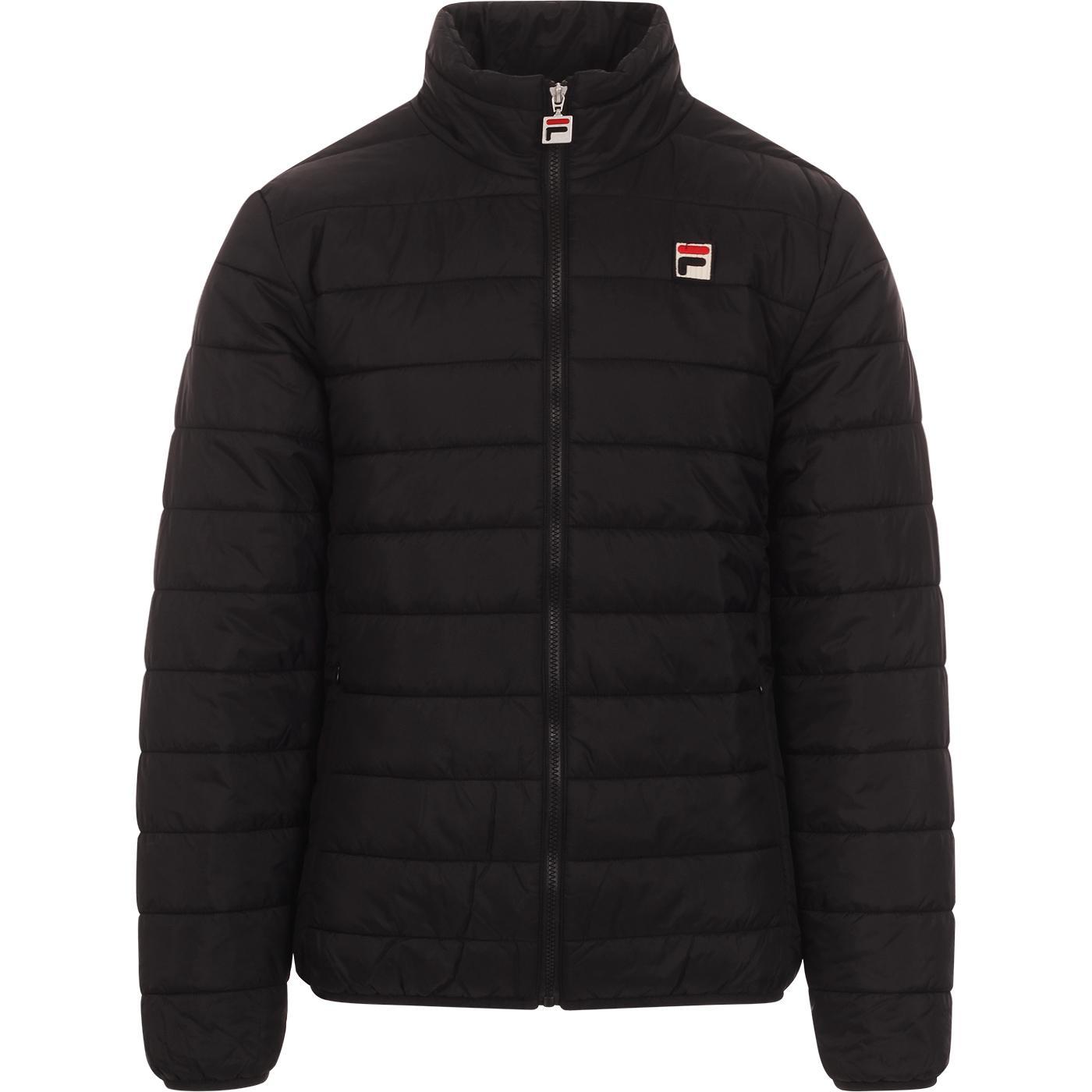 Skip FILA VINTAGE Retro 80s Puffer Jacket BLACK