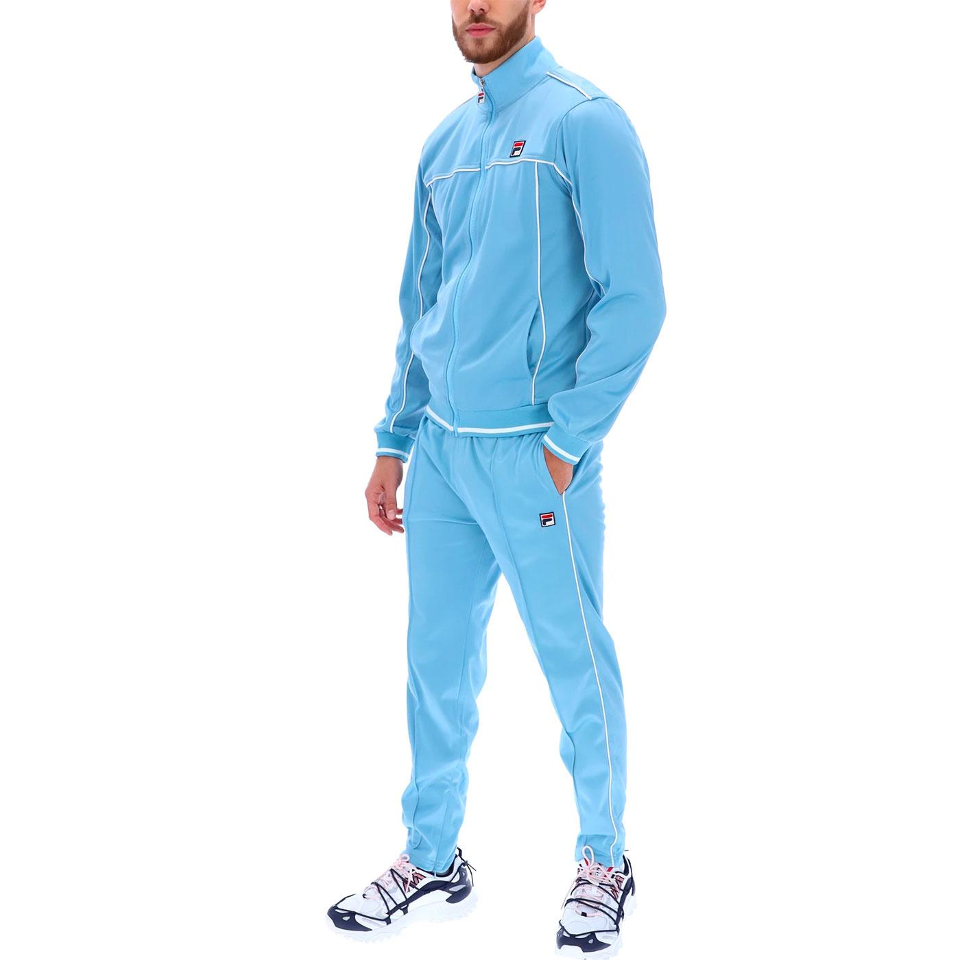 Terry FILA VINTAGE Retro 80s Piped Tracksuit AB