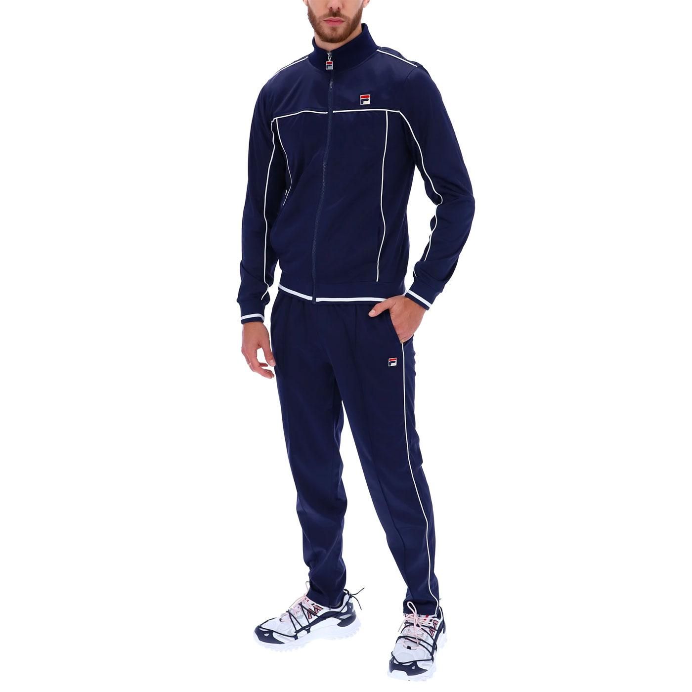 Terry FILA VINTAGE Retro 80s Piped Tracksuit P