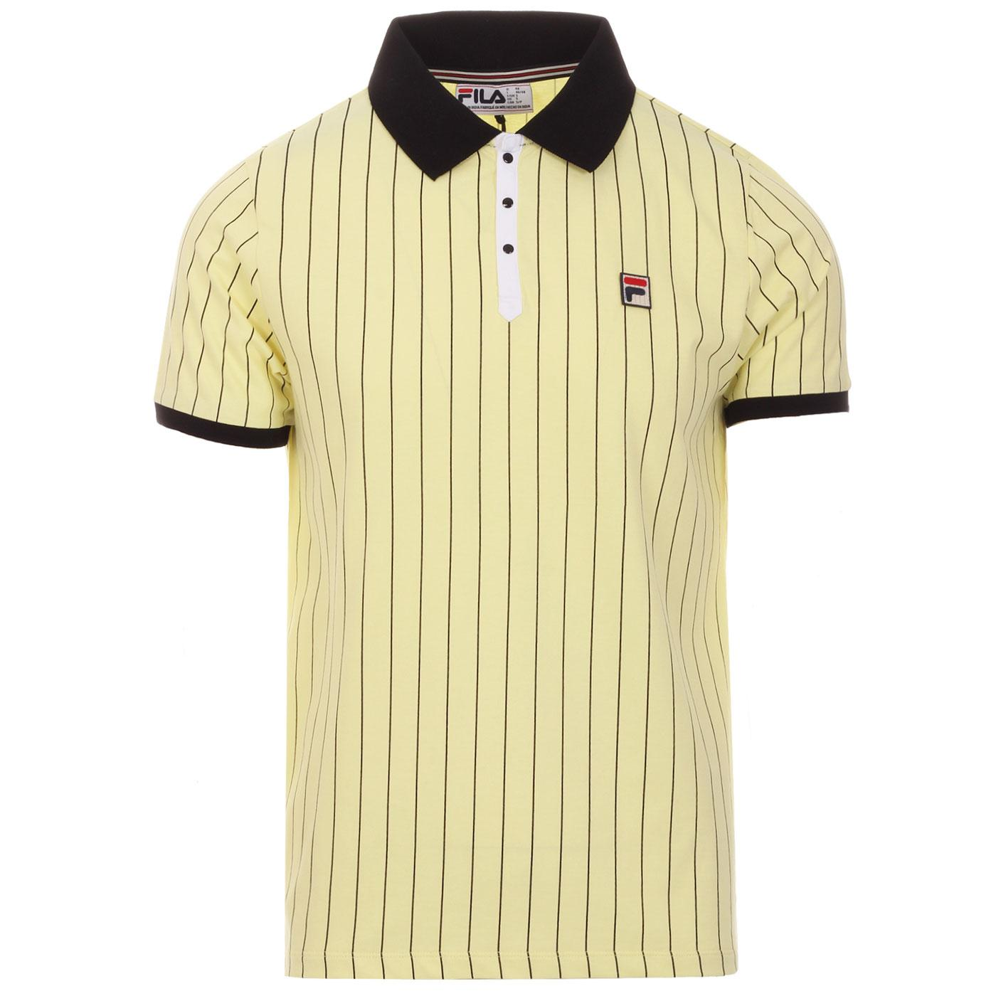 BB1 FILA VINTAGE Retro Borg Tennis Polo (Lemonade)