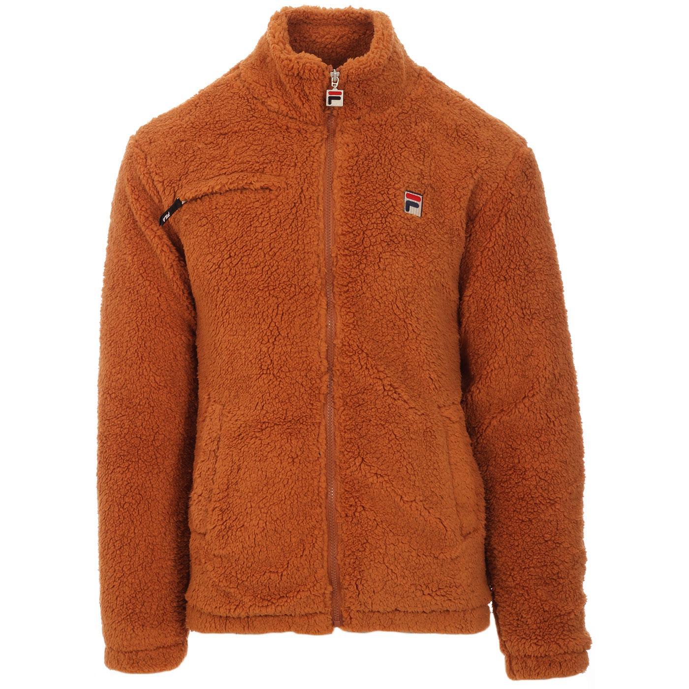 Bridgewater FILA VINTAGE Zip Up Fleece Jacket BRAN