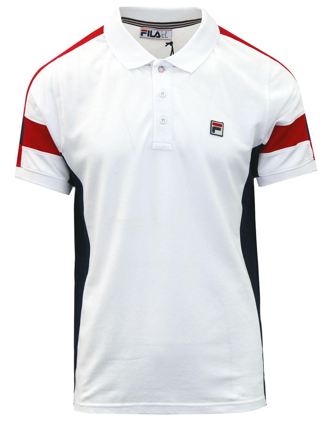 Prago FILA VINTAGE Retro Panel Pique Polo Top (W)