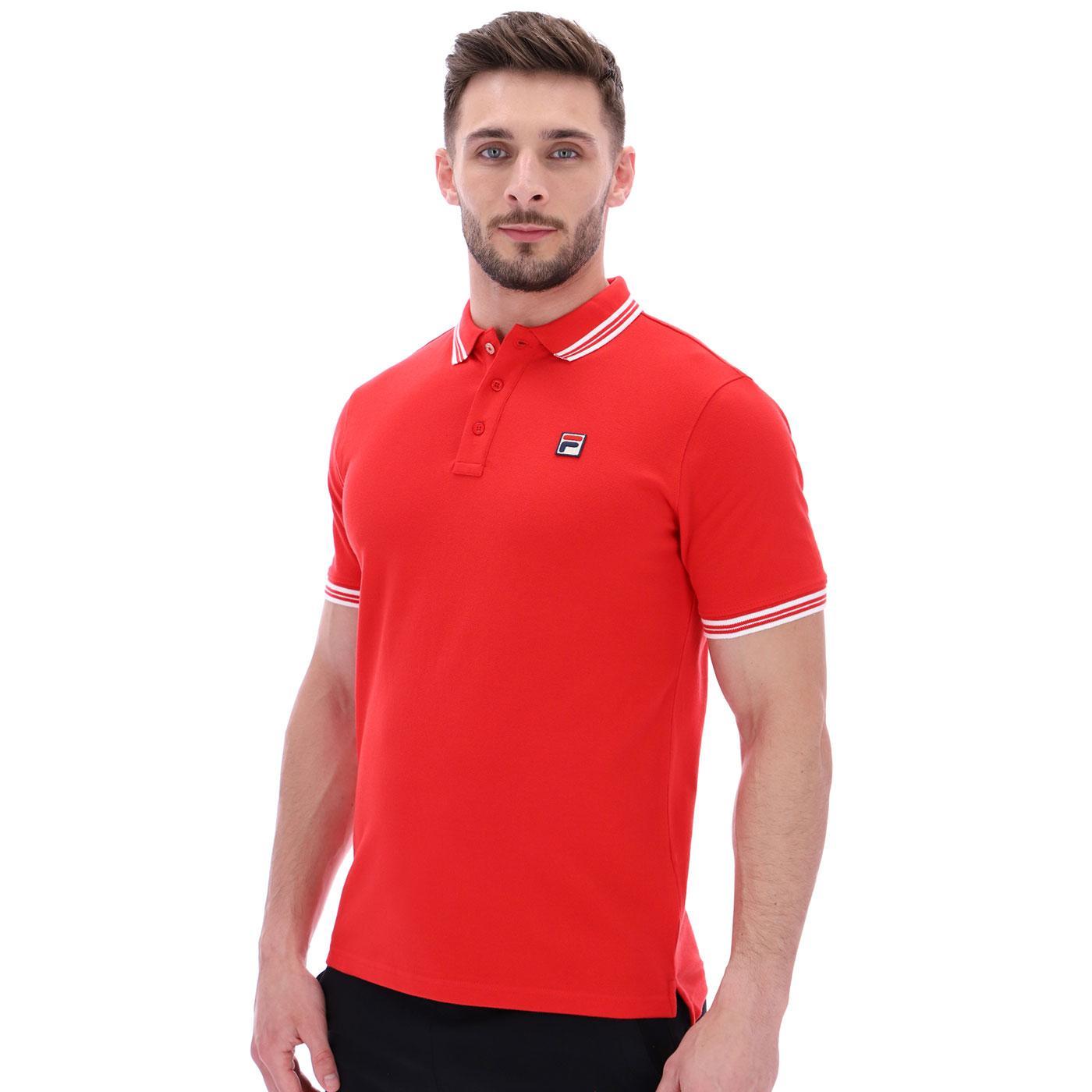 FILA VINTAGE Prime Retro Tipped Polo (England Red)