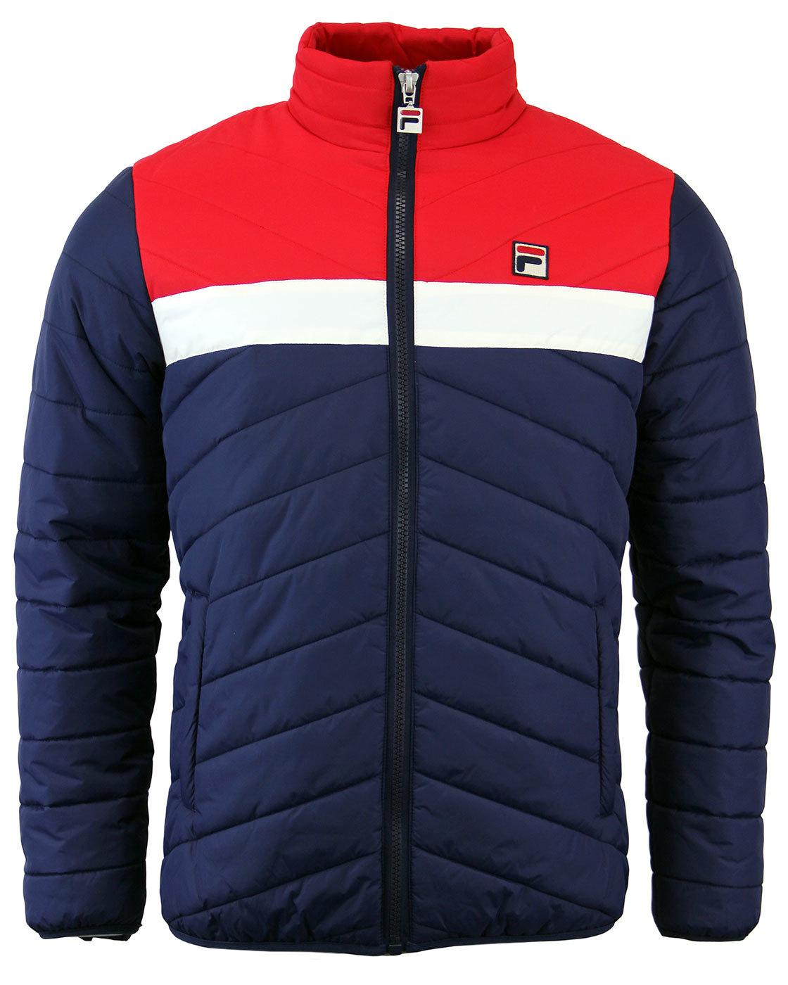 FILA VINTAGE piselli Retro Mens 70s Indie Ski Jacket