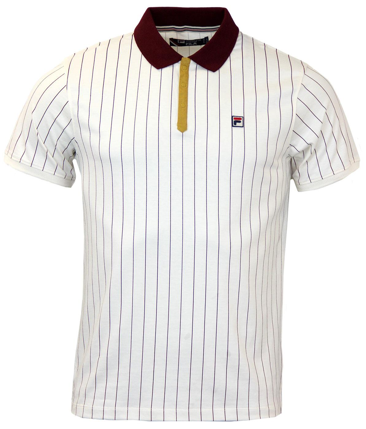 BB1 Borg Polo FILA VINTAGE Retro 70s Polo Top GDP