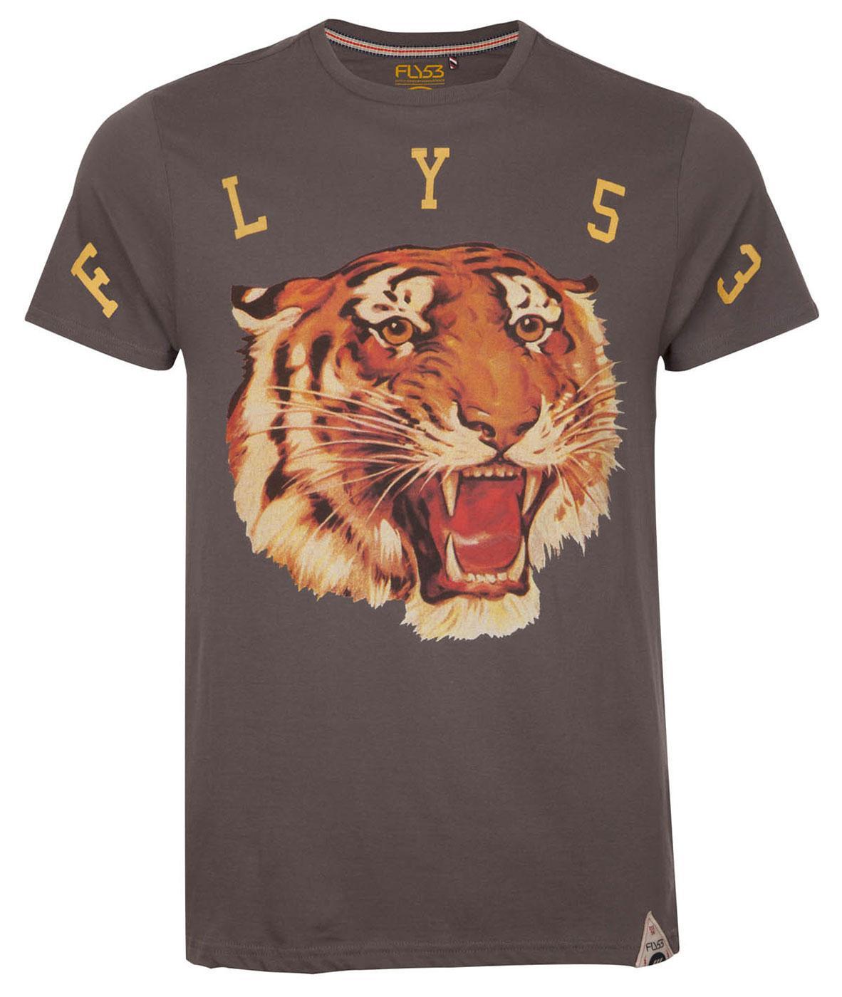 Fly53 balboa retro seventies indie tiger print vintage t shirt for Vintage t shirt printing
