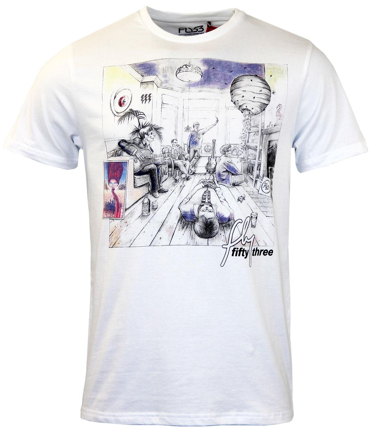 Super Smile FLY53 1990s Britpop Civil War T-shirt