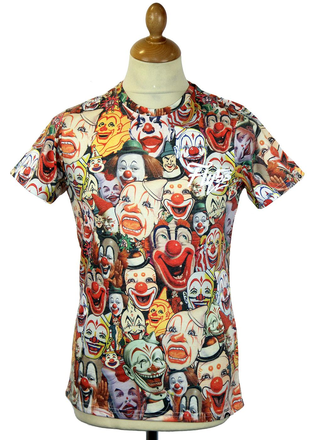 Pennywise FLY53 Retro 70s Indie Clown T-Shirt