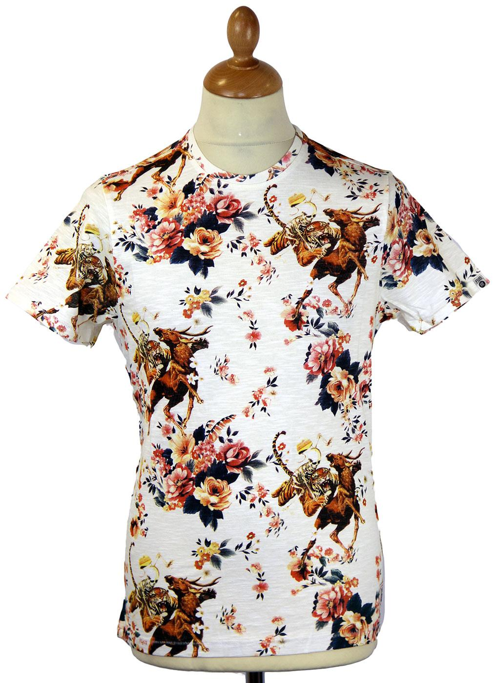 Crimson Ghost FLY53 Retro 70s Indie Floral T-shirt