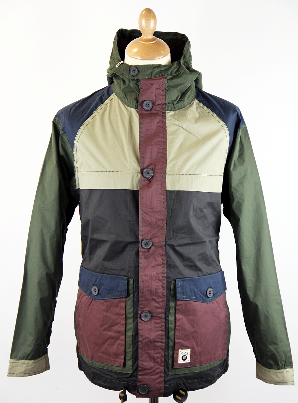 Tuco FLY53 Retro Indie Mod Colour Block Jacket