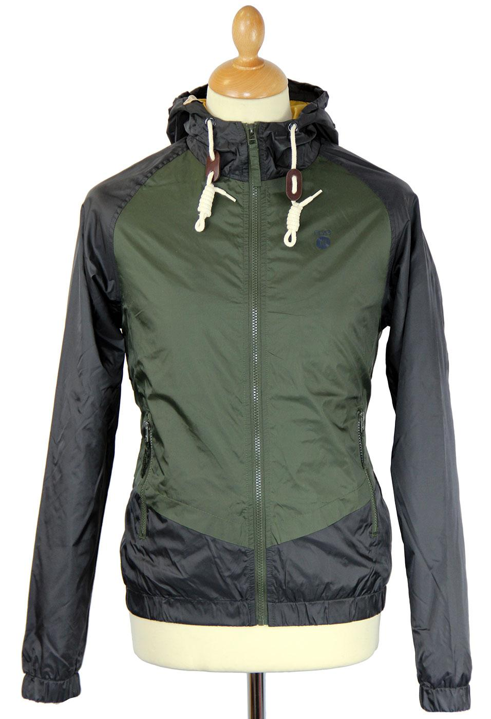 Zarco FLY53 Retro Indie Panel Nylon Hooded Jacket