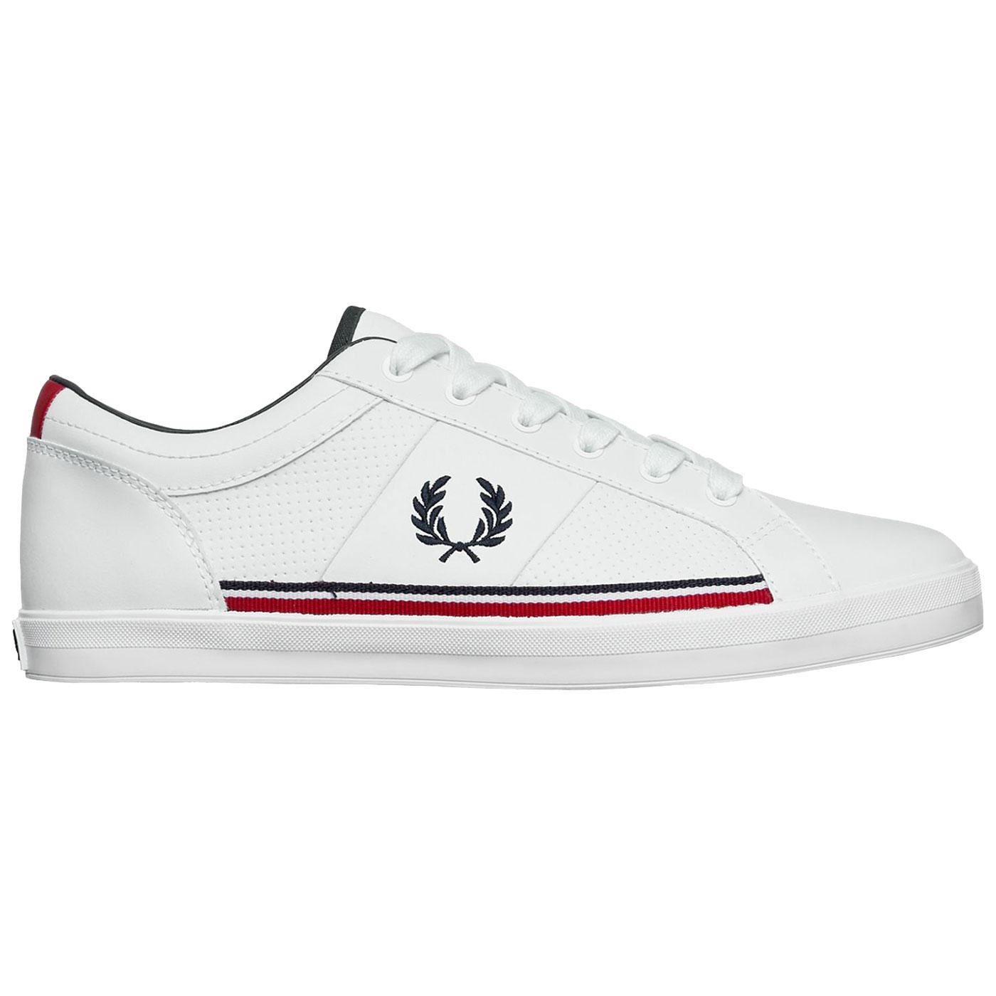 Baseline FRED PERRY Leather Perforated Trainers W