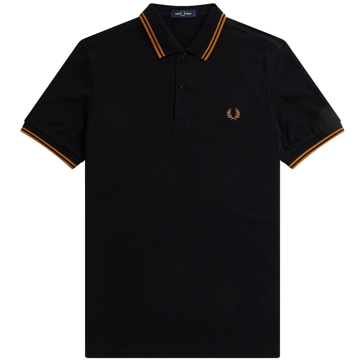 FRED PERRY M3600 Twin Tipped Mod Polo Shirt B/DC